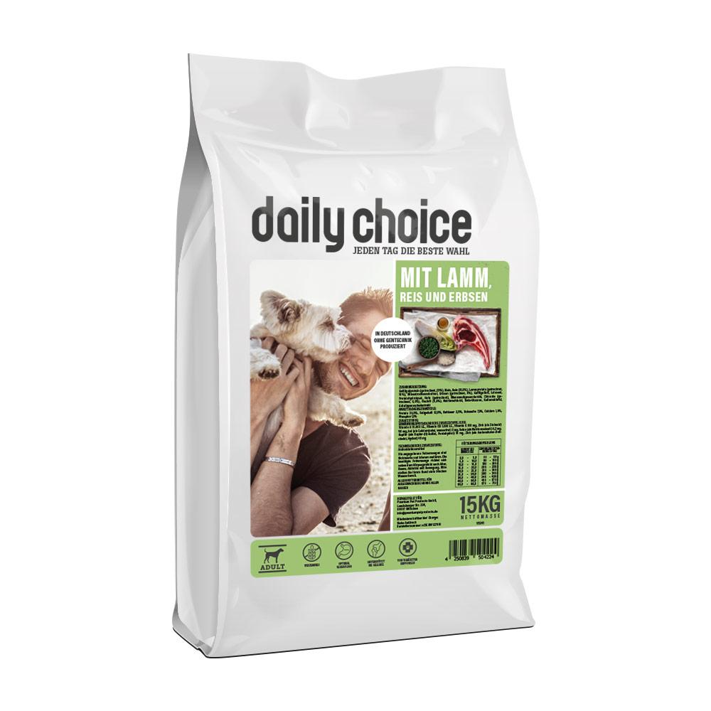 15 kg, Lamm & Reis, glutenfrei, Trockenfutter, Hundefutter, daily choice
