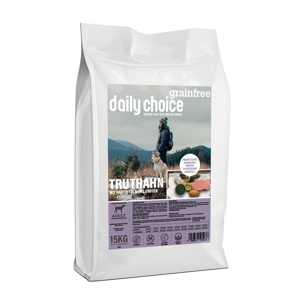 15 kg, Truthahn & Kartoffel, getreidefrei, Hundefutter, daily choice