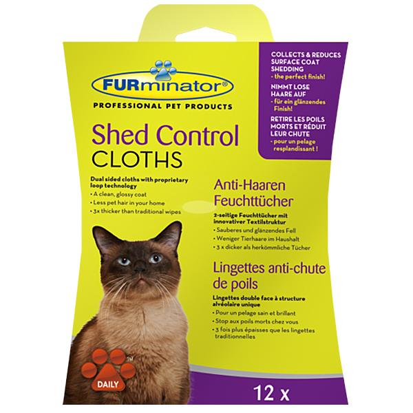 FURminator - Fellpflege Katze - Shed Control Anti-Haaren Feuchttücher für Katzen