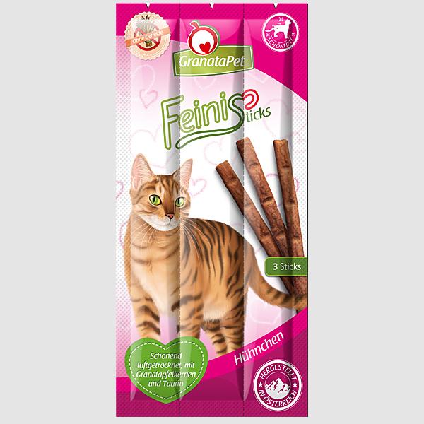 GranataPet - Katzensnack - FeiniSticks Hühnchen 15g (getreidefrei)
