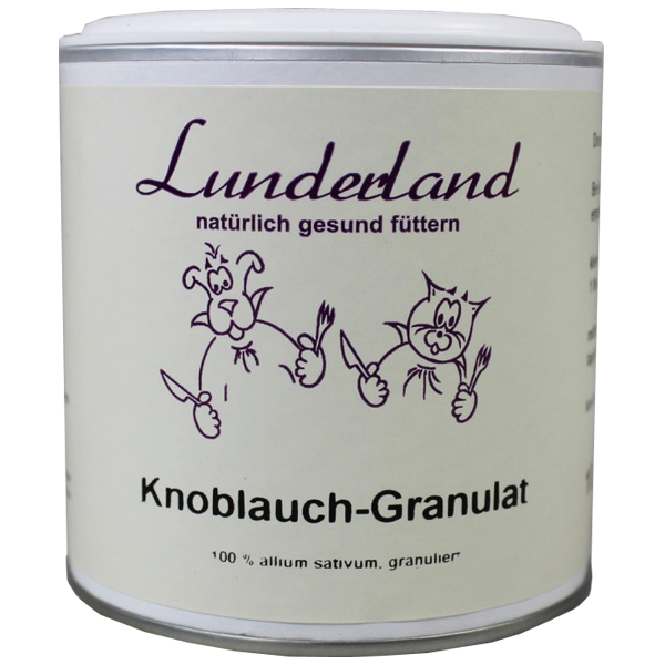 Lunderland - Ergänzungsfutter - Bio Knoblauchgranulat 300g