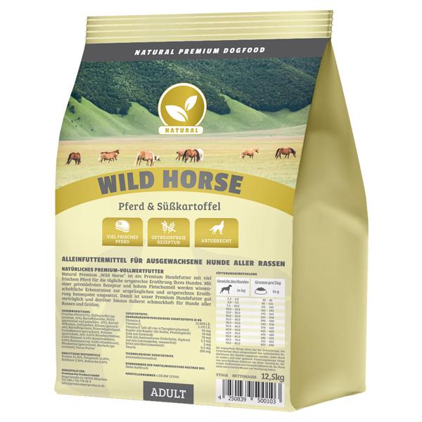 Trockenfutter getreidefrei, 12,5 kg, Pferd, Premium Hundefutter, Natural