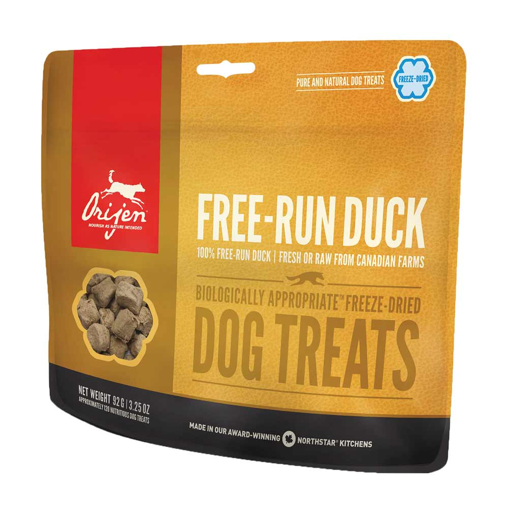 20 x 92 g | Orijen |  Treat Free Run Duck Freeze Dried | Snack | Hund