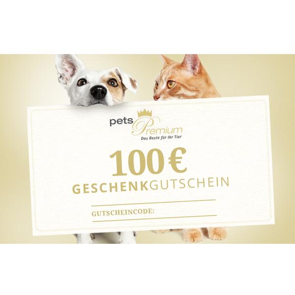 pets Premium - Geschenkgutschein im Wert von 100 Euro