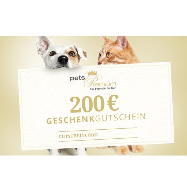 pets Premium - Geschenkgutschein im Wert von 200 Euro