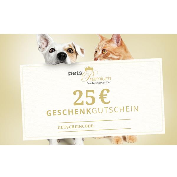 pets Premium - Geschenkgutschein im Wert von 25 Euro