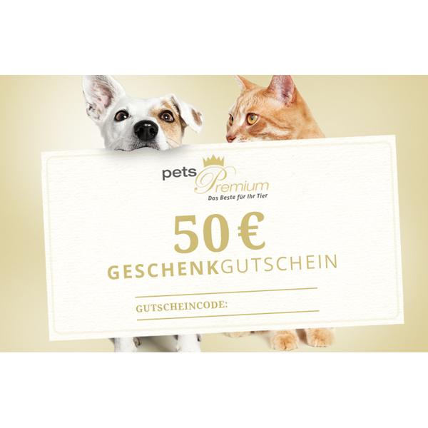 pets Premium - Geschenkgutschein im Wert von 50 Euro