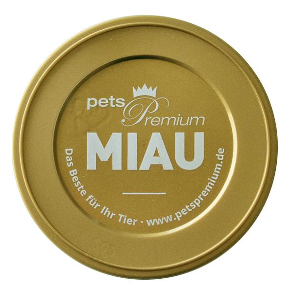 Pets Premium - Katzenzubehör - Dosendeckel Miau (für 200g- und 400g-Dosen)