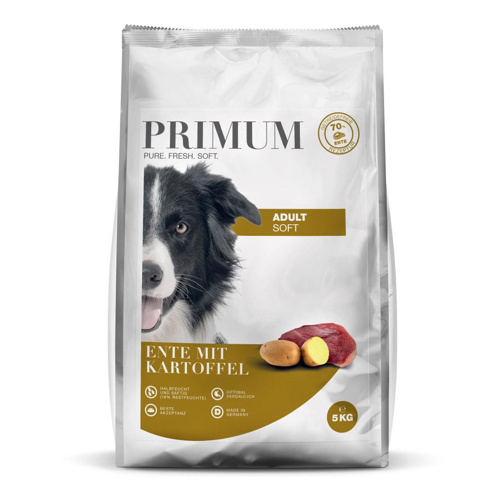 halbfeuchtes Hundefutter, Soft, Ente, 3x5kg, getreidefrei, Primum