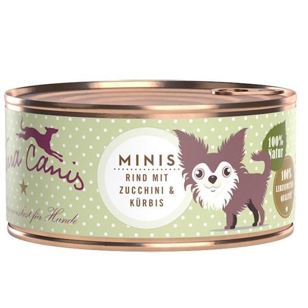 18 x 100 g | Terra Canis | Minis Rind Mini-Hunde | Nassfutter | Hund