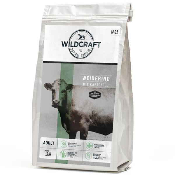 4 kg, Weiderind & Kartoffel, getreidefrei, Hundefutter, Trockenfutter, Wildcraft