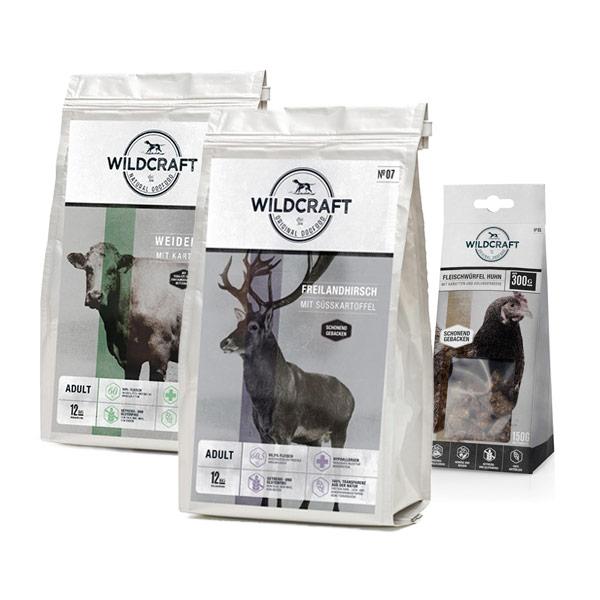 2 x 12 kg, Spar-Mix-Paket,getreidefrei, Hundefutter, Trockenfutter, Wildcraft