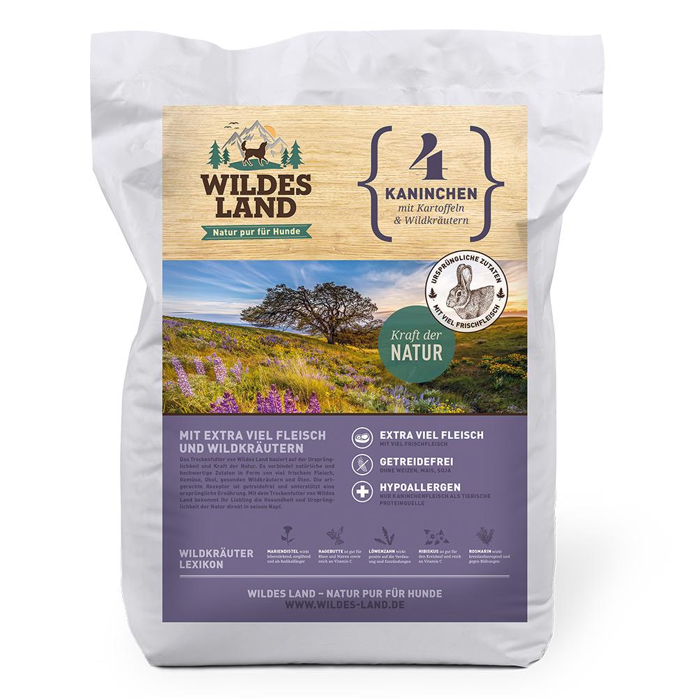 4 kg, Kaninchen & Kartoffel, getreidefrei, Hundefutter, Trockenfutter, Wildes Land