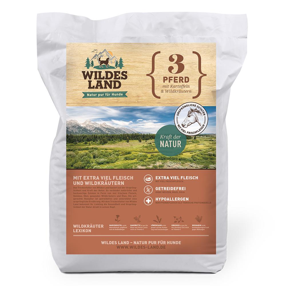 4 kg, Pferd & Kartoffel, getreidefrei, Hundefutter, Trockenfutter, Wildes Land