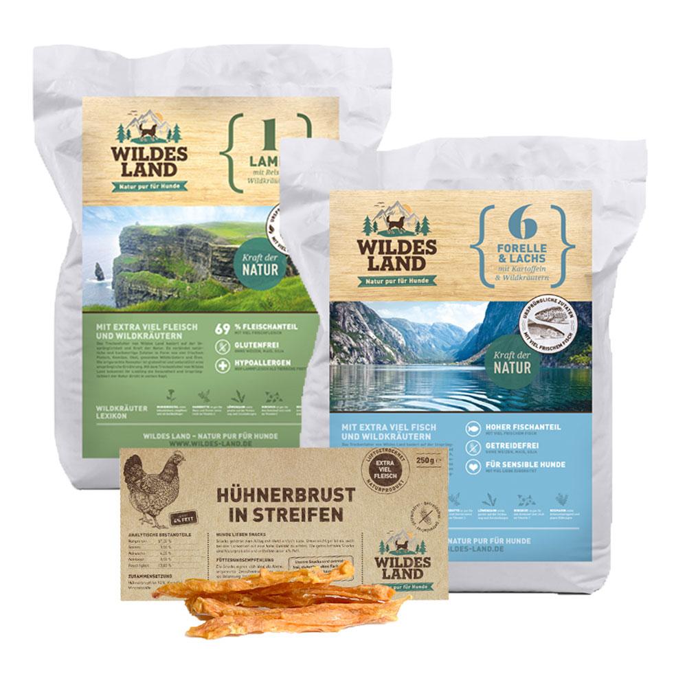 24kg + Snack, getreidefreies Hundefutter, Sparpaket, Wildes Land