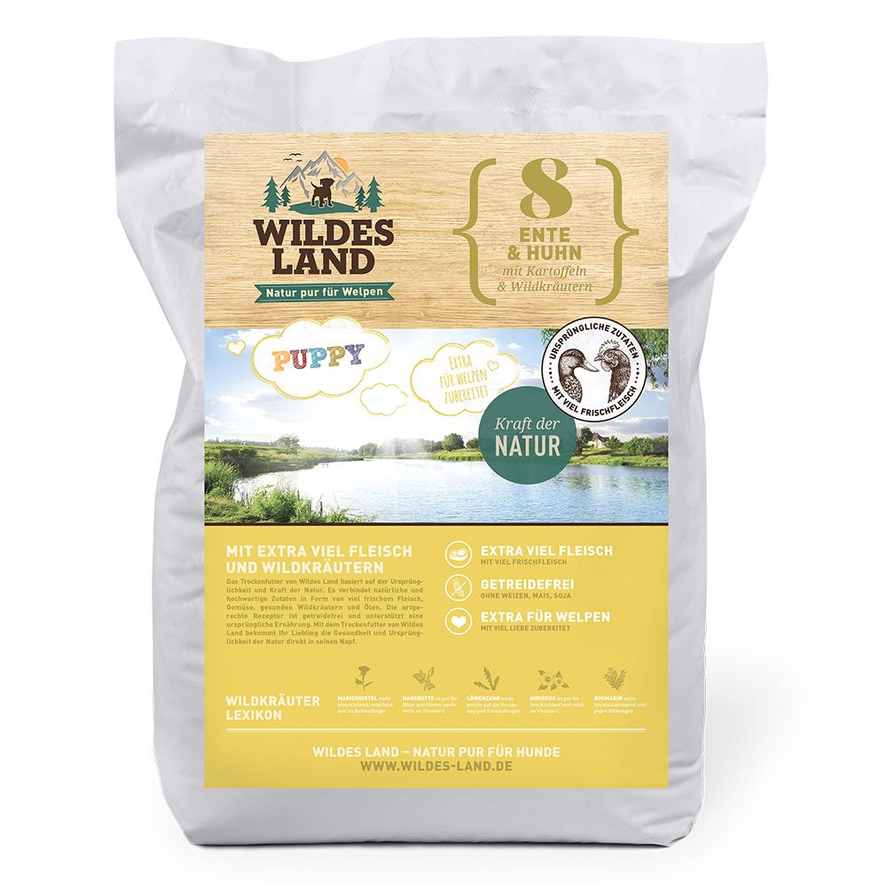 4 kg, Ente & Huhn, Welpen, getreidefrei, Hundefutter, Trockenfutter, Wildes Land