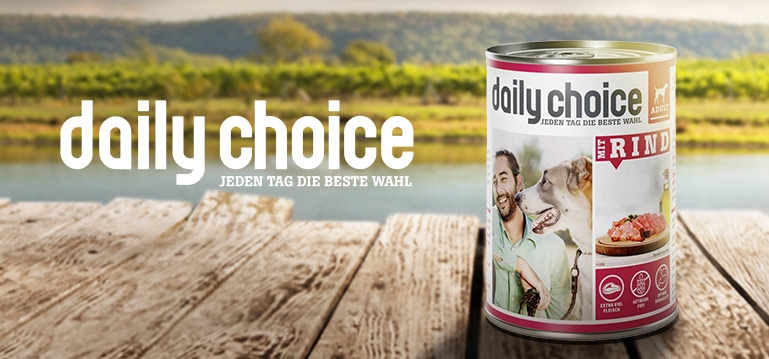 daily choice Getreidefreies Nassfutter Hund