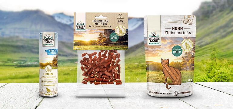 Wildes Land Snacks für Katzen