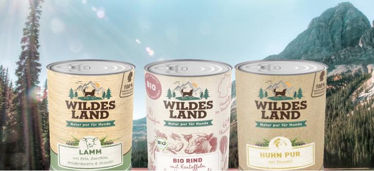 Wildes Land Nassfutter für Hunde