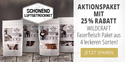 Wildcraft Faserfleisch Snacks Aktionspaket