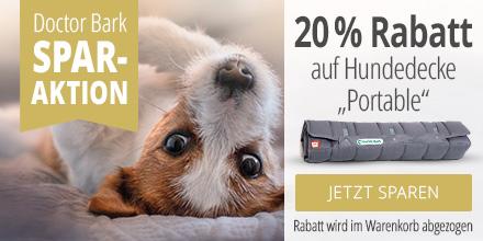 Doctor Bark 20% auf Reisedecke Portable