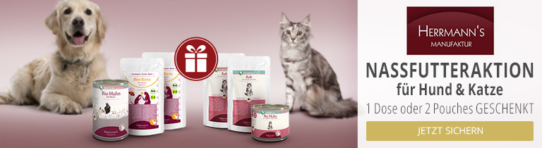 Herrmann's Nassfutteraktion für Hunde und Katzen