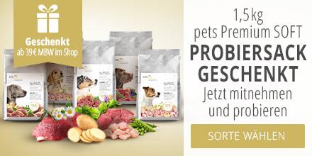 pets Premium Softwochen mit 1,5 kg Probiersack Geschenkt