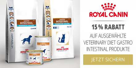 Royal Canin Veterinary Diet -15% auf Gastrointestinal Produkte