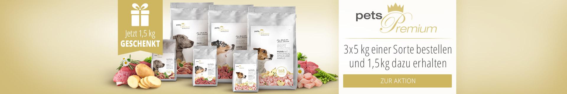 pets Premium Softfutter Aktion - 1,5kg gratis