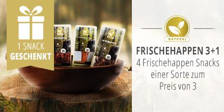 Natural Frischehappen Kausnacks 3+1 Aktion
