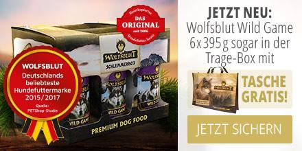 Wolfsblut Wild Game Schlemmerbox plus Tragetasche geschenkt