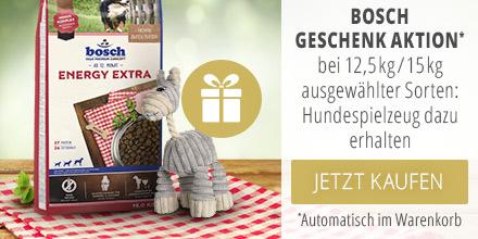 Bosch Großgebinde Trockenfutter Hund + Plüschspielzeug geschenkt