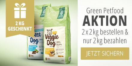 Green Petfood Aktion 2 x 2kg bestellen & und nur 2kg bezahlen