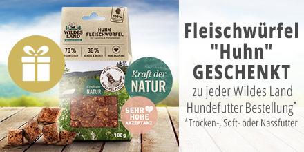 Wildes Land Fleischwürfel Huhn Geschenkt
