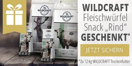 Wildcraft Aktion mit Fleischwürfel Snack Rind Geschenkt