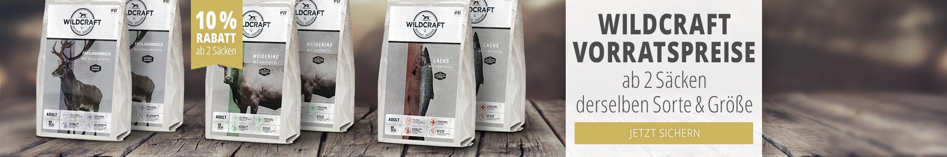 Wildcraft Vorratspreise ab 2 Sack Trockenfutter