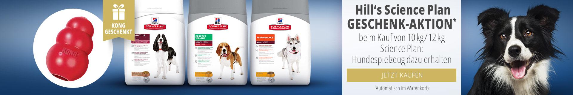 Hills Science Plan Geschenk Aktion keim Kauf von 10kg/12kg Science Plan: Hundespielzeug dazu erhalten