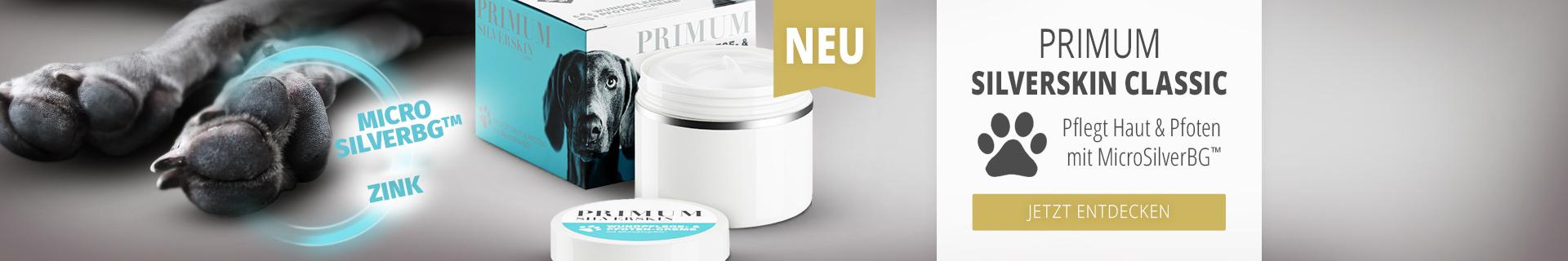 Jetzt die neue PRIMUM SilverSkin Pfotenpflege entdecken