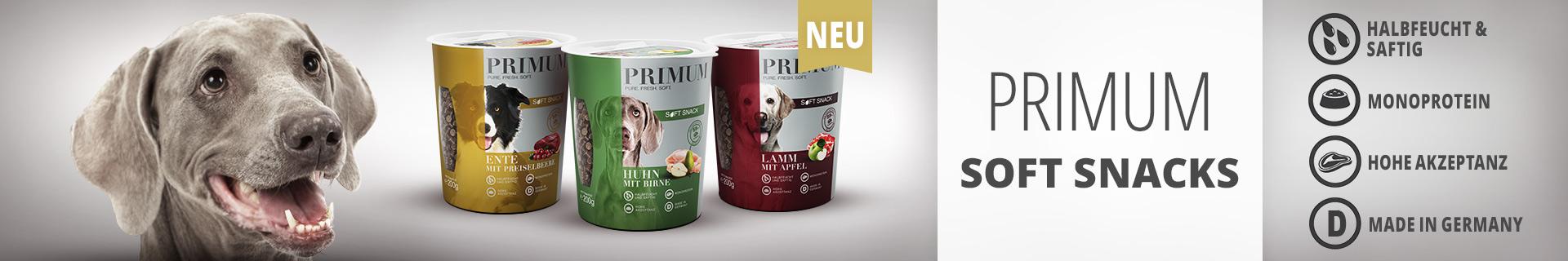 Jetzt neu: PRIMUM Soft Snacks