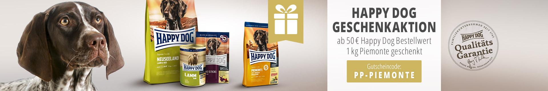 Hapy Dog Aktion Supreme Sensible Piemonte 1kg gratis ab 50Euro Einkauf