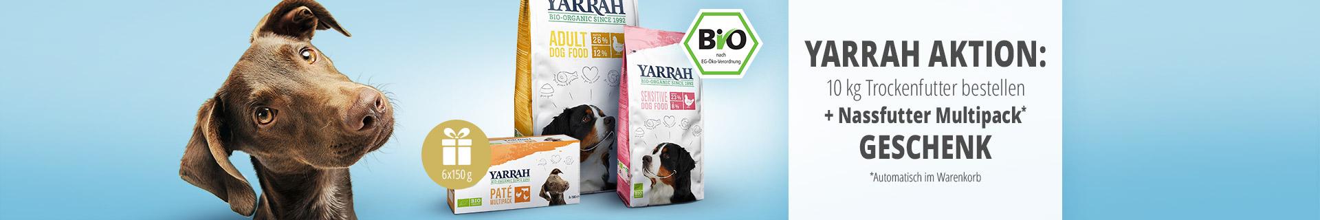 Yarrah Aktion: 10kg Trockenfutter bestellen + Nassfutter Multipack geschenkt