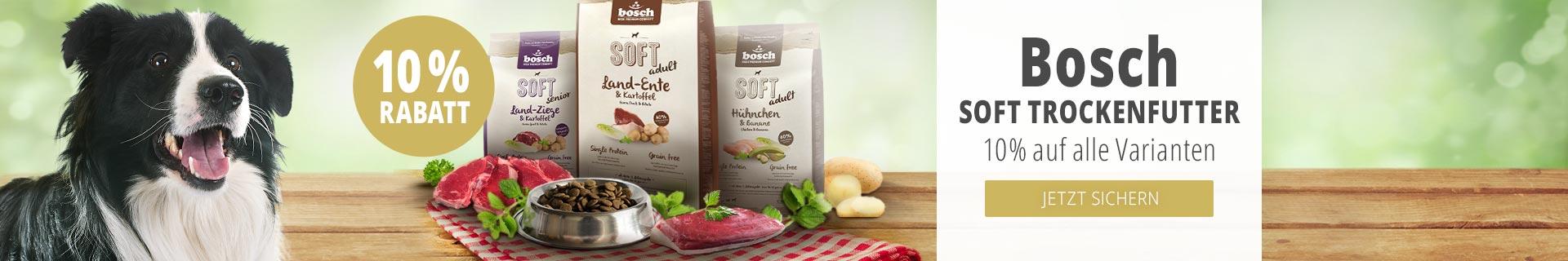Bosch Soft Trockenfutter 10% auf alle Varianten