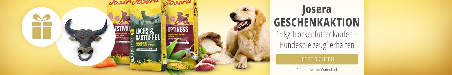Josera Geschenkaktion 15kg Trockenfutter kaufen + Hundespielzeug erhalten