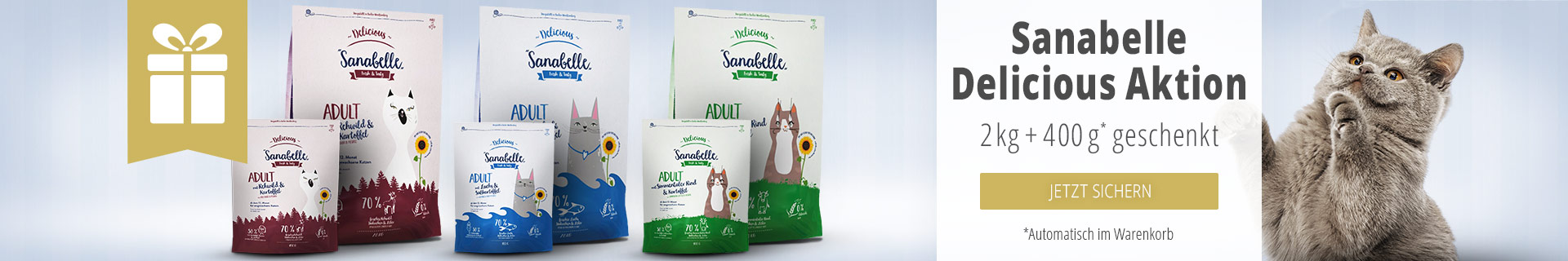 Sanabelle Delicious Aktion 2kg + 400g geschenkt