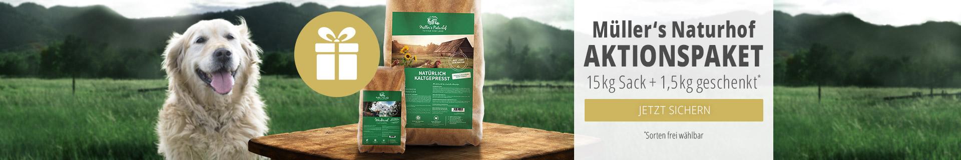 Müller's Naturhof Aktion: 1,5kg Trockenfutter geschenkt
