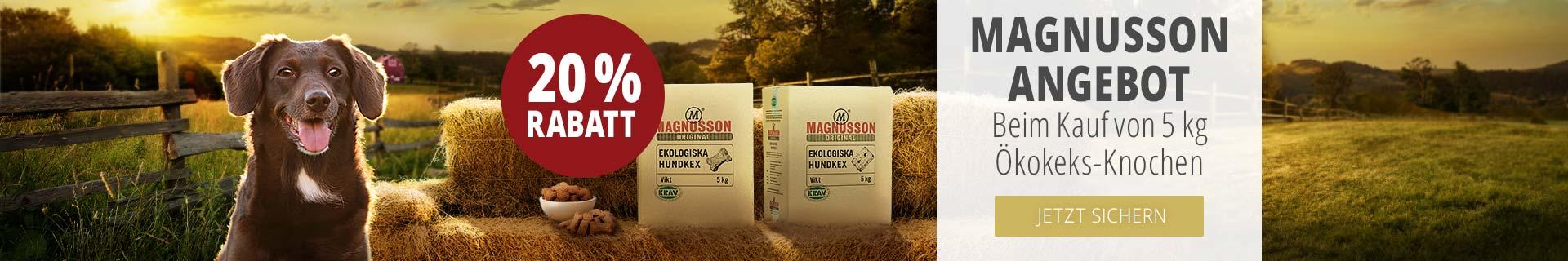 Magnusson Angebot beim Kauf von 5kg Ökokeks-Knochen