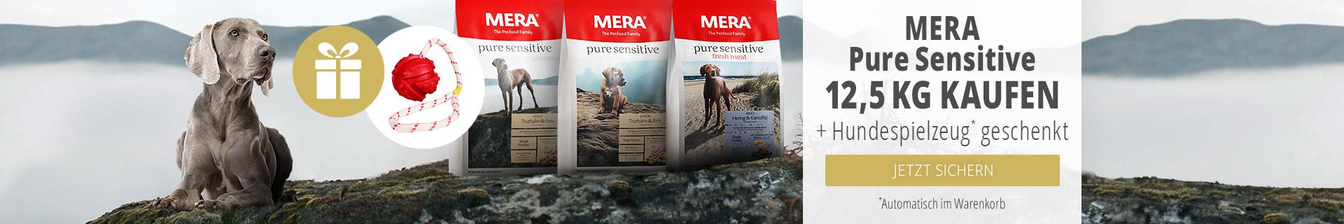 Mera Pure Sensitive Aktion 12,5kg bestellen + Hundespielzeug gratis