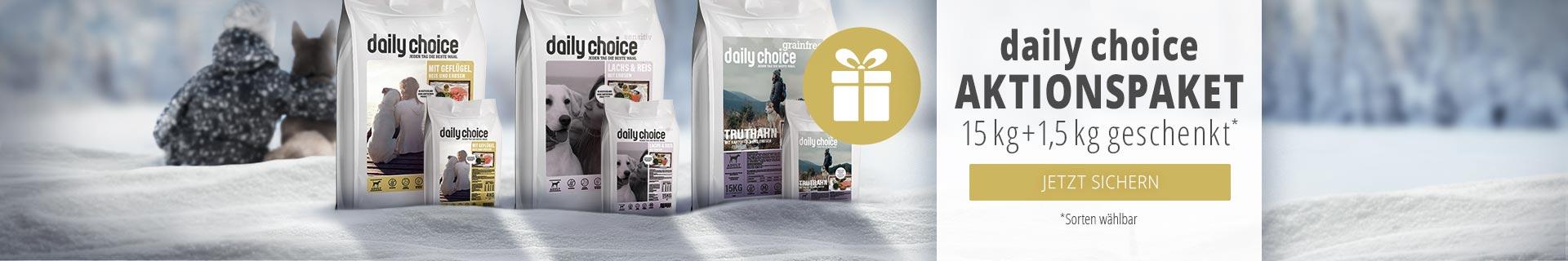 dailychoice Trockenfutter Aktionspaket - 15kg bestellen 1,5kg geschenkt