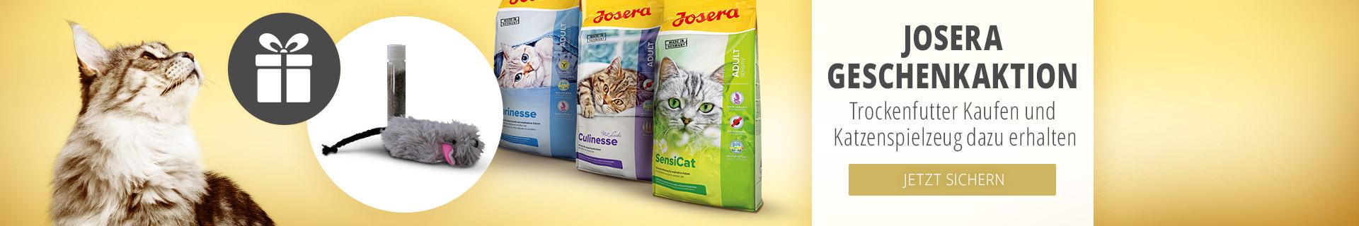 Josera Geschenkaktion Trockenfutter kaufen und Katzenspielzeug erhalten