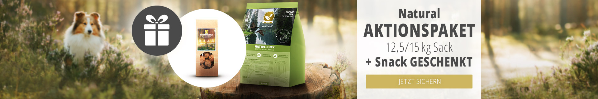 Natural Aktion für Hunde - Snack Knusperkugeln geschenkt